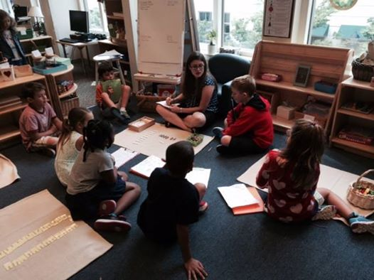 Hard at work at First State Montessori Academy.  Photo Credit: First State Montessori Academy